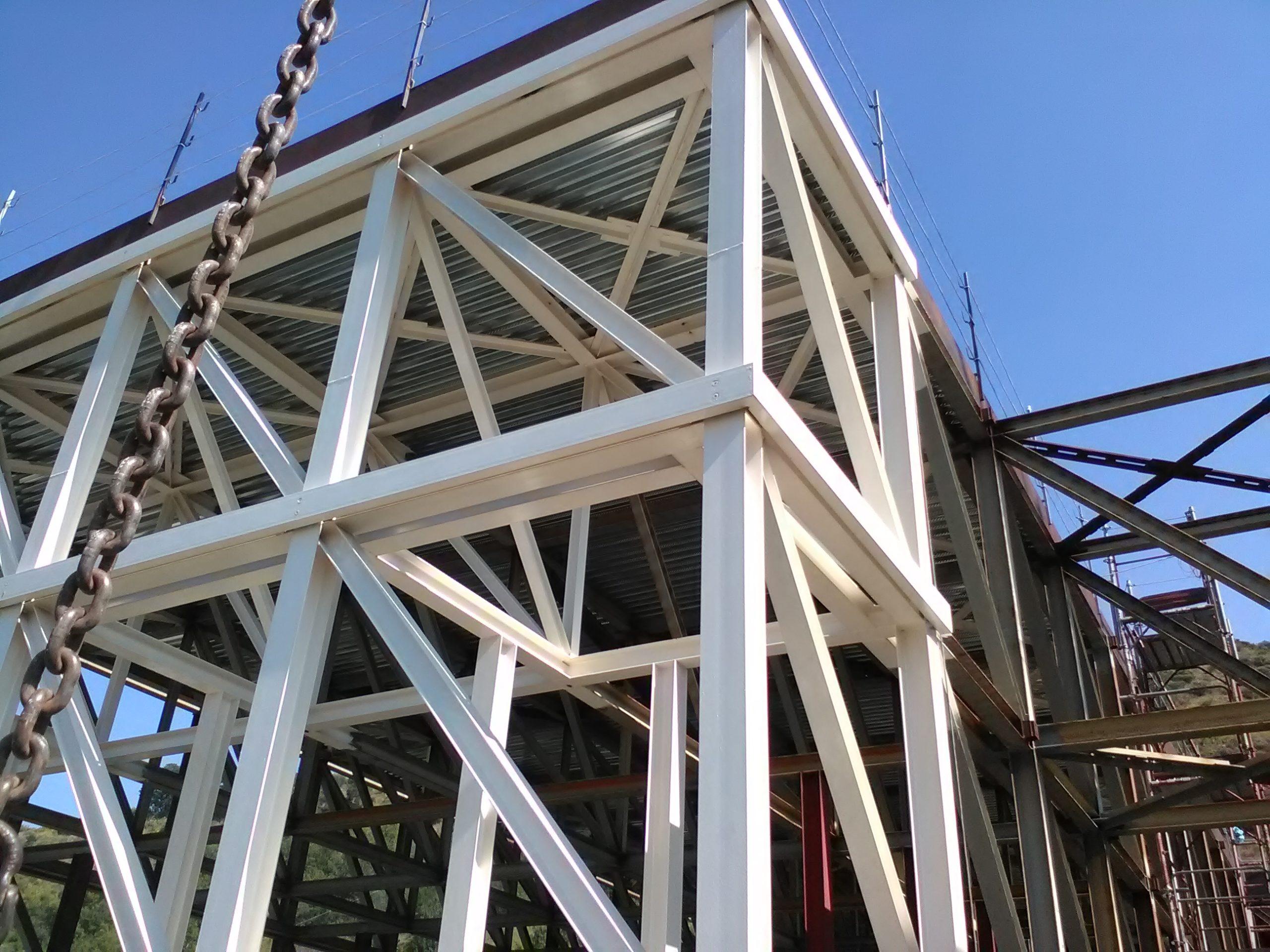 33 Fornitura e Montaggio di struttura secondaria lavoro eseguito su Cosenza Planetarium